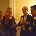 Ingrid Petersson (Generaldirektör FORMAS), Kristina Sparreljung (Hjärt-Lungfonden), Anders Ekblom (Styrelseledamot i bl.a. Karolinska Sjukhuset och SwedenBio) och Ivar de la Cruz (Naturvetarna)