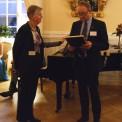 Barbro Westerholm (Folkpartiet, mottagare av Forska!Sveriges utmärkelse till politiker 2014) och Carl Johan Sundberg (Karolinska Institutet, Ordförande Forska!Sverige)