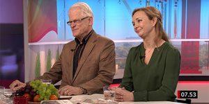 Ingvar Carlsson och Anna Nilsson Vindefjärd i SVT:s Gomorron Sverige