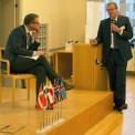 Mikael Damberg (S) och Leif Johansson, styrelseordförande AstraZeneca