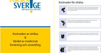 Ny rapport: Kostnad av ohälsa & Värdet av medicinsk forskning och utveckling