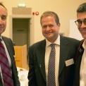 Carl Johan Sundberg, styrelseordförande Forska!Sverige, Michael Nilsson, director Hunter Medical Research Institute och Peter Friberg, ordförande svenska läkaresällskapet