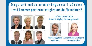 Forska!Sveriges debatt & mingel i Almedalen