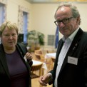 Ingrid Petersson, nationell samordning kliniska prövningar och Olle Stendahl, professor i medicinsk mikrobiologi LiU